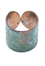 Matr Boomie Art Deco Scallop Ring - Patina