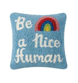 Peking Handicraft Be a Nice Human Hook Pillow