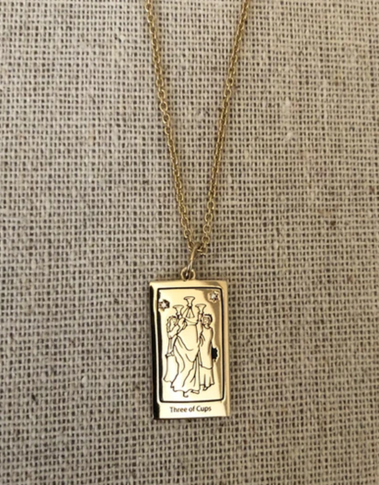 Memento Mori Designs NYC The Three of Cups Tarot Charm with Chain