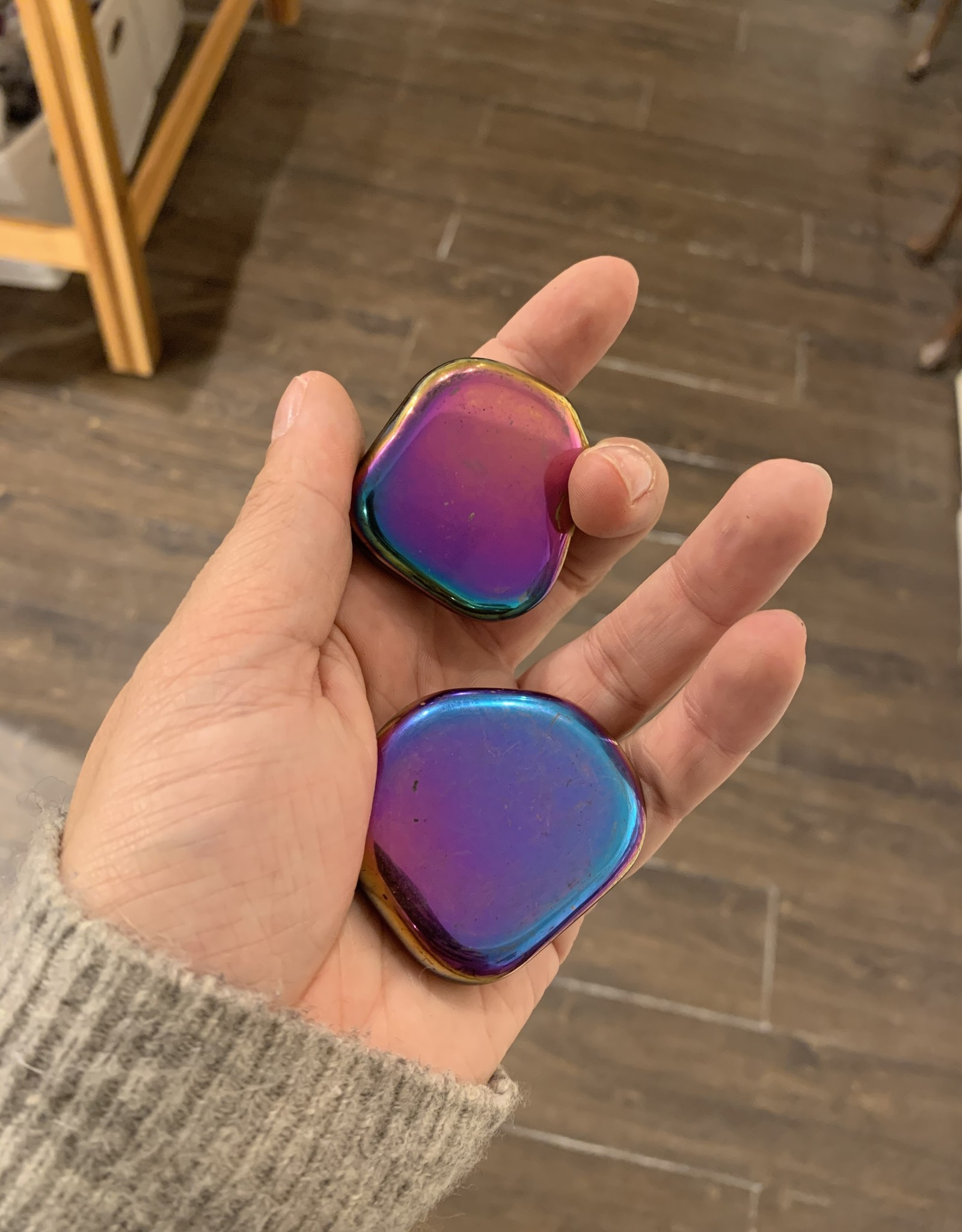 Pelham Grayson Rainbow Hematite Palmstone
