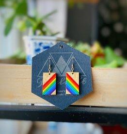 Firelight Rainbow Bright Dangle Earrings