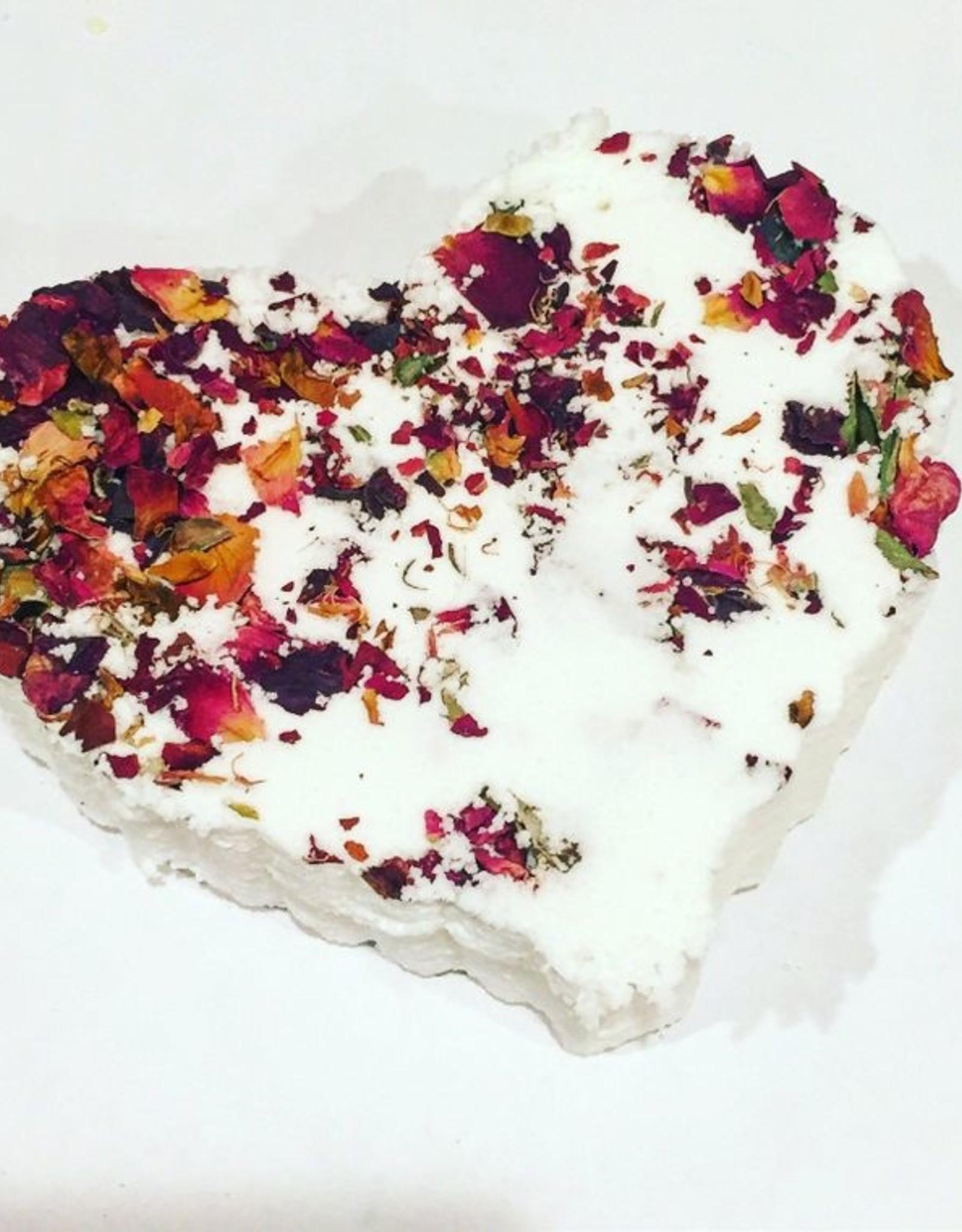 Butter Me Up Organics (DC) Rose Heart bath bomb
