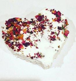 Butter Me Up Organics Rose Heart Bath Bomb
