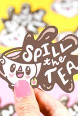 Turtle's Soup Spill The Tea Vinyl Sticker