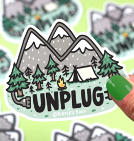 Turtle's Soup Unplug in Nature Vinyl Sticker