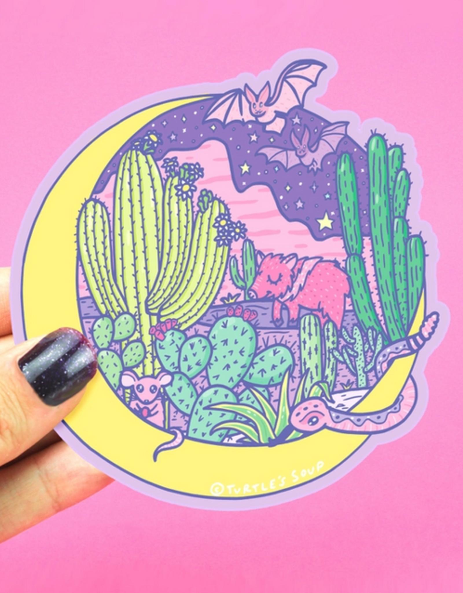 Turtle's Soup Desert Moon Vinyl Sticker