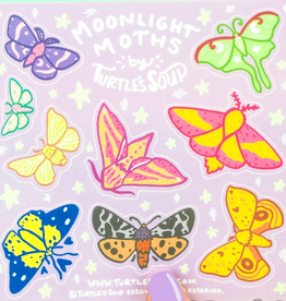 Turtle's Soup Moonlight Moths Vinyl Sticker Sheet