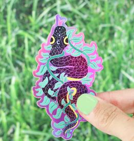 Turtle's Soup Climbing Vine Snake Vinyl Sticker (Holographic)