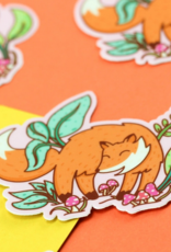 Turtle's Soup Woodland Playful Fox Vinyl Sticker