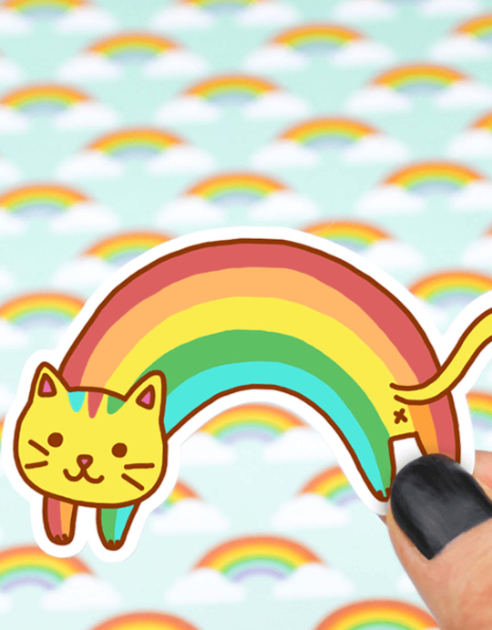 Turtle's Soup Rainbow Cat Vinyl Sticker