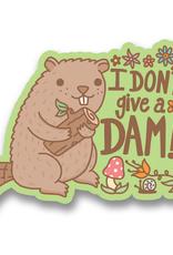 Turtle's Soup I Don't Give A Dam Beaver Vinyl Sticker