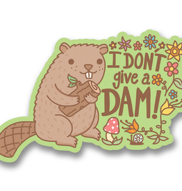 Turtle's Soup I Don't Give A Dam Beaver Vinyl Sticker
