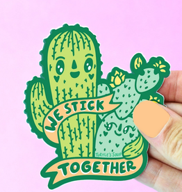 Turtle's Soup We Stick Together Cacti Vinyl Sticker