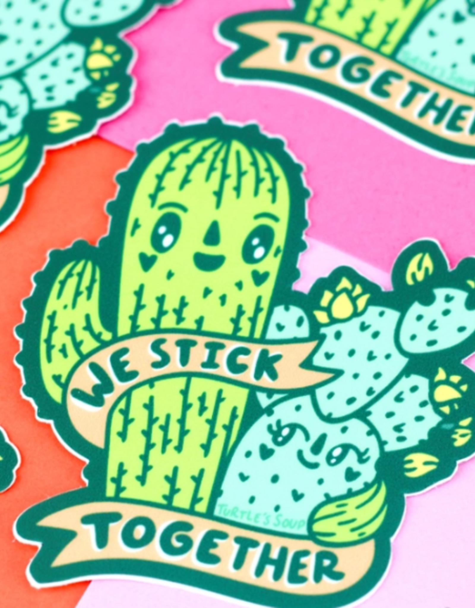Turtle's Soup We Stick Together Cacti Vinyl Sticker