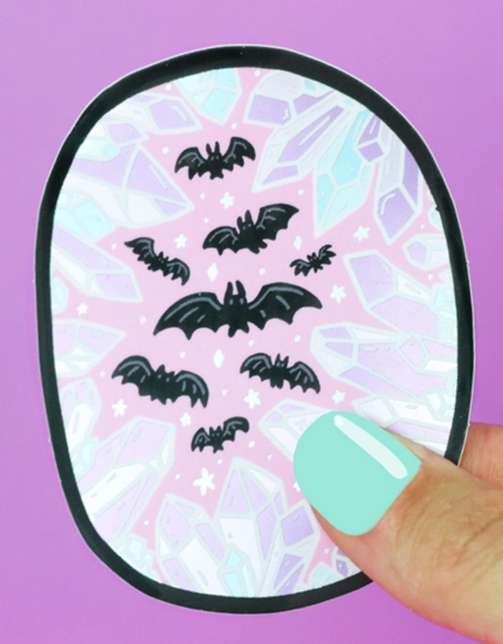 Turtle's Soup Crystal Cave Bats Vinyl Sticker (Holographic)