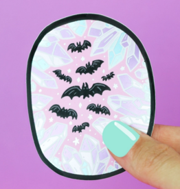 Turtle's Soup Crystal Cave Bats Vinyl Sticker (Holographic)