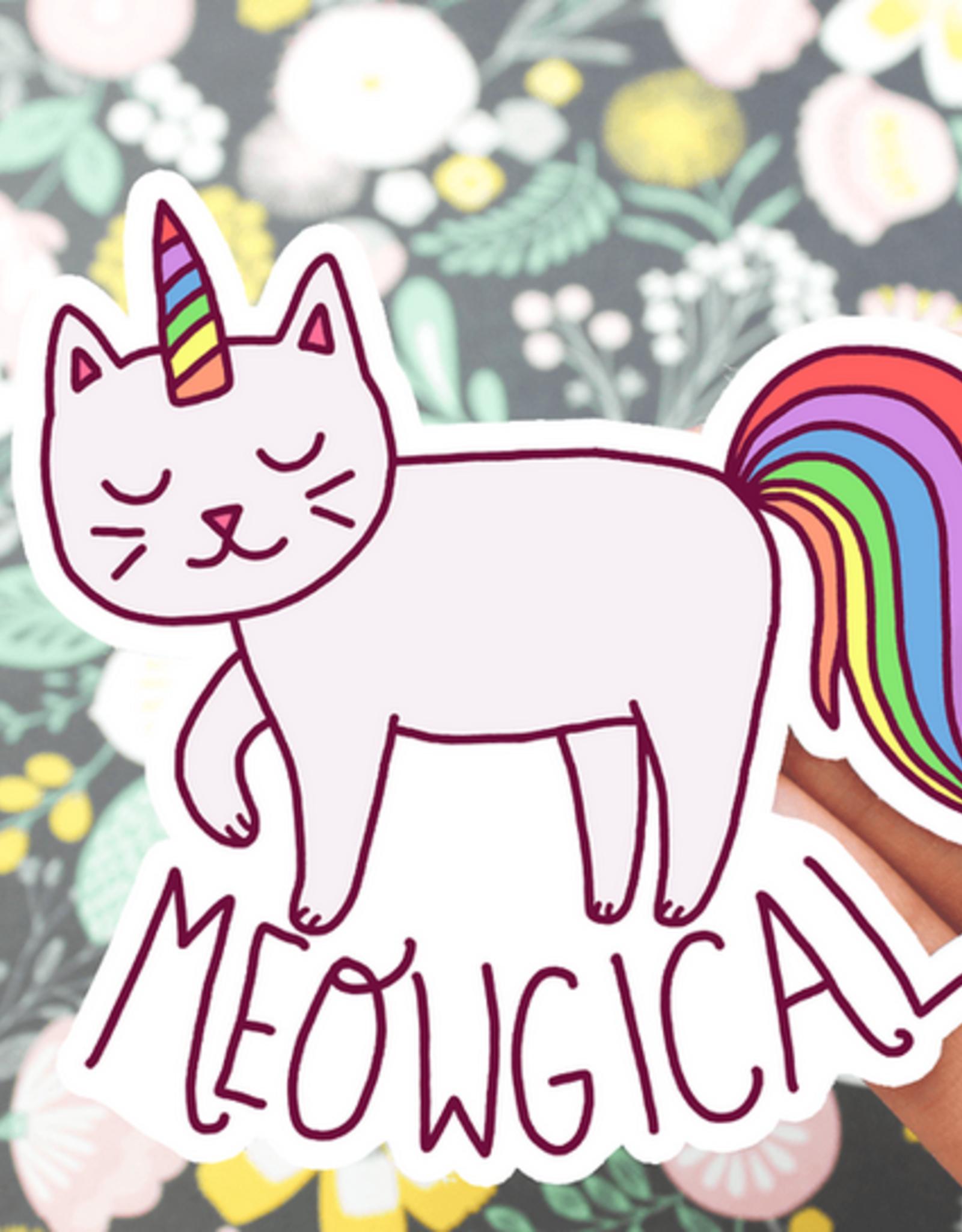 Turtle's Soup Meowgical Cat Vinyl Sticker