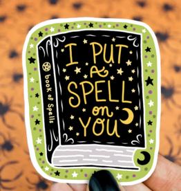 Turtle's Soup Spellbook Witch Halloween Sticker