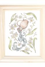 "Erica Catherine Illustration Aquarius Zodiac Sign Vintage Illustration Art Print: 8 x 10"""
