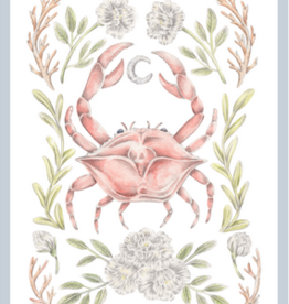 "Erica Catherine Illustration Cancer Zodiac Sign Illustration Art Print: 8 x 10"""