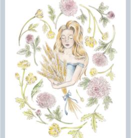 "Erica Catherine Illustration Virgo Sign Illustration Art Print: 8 x 10"""