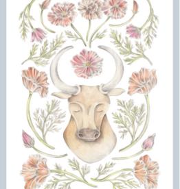 "Erica Catherine Illustration Taurus Zodiac Sign Illustration Art Print: 8 x 10"""