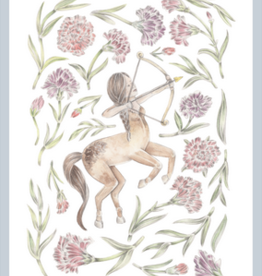 "Erica Catherine Illustration Sagittarius Zodiac Sign Illustration Art Print: 8 x 10"""