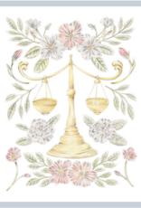 "Erica Catherine Illustration Libra Zodiac Sign Illustration Art Print: 8 x 10"""