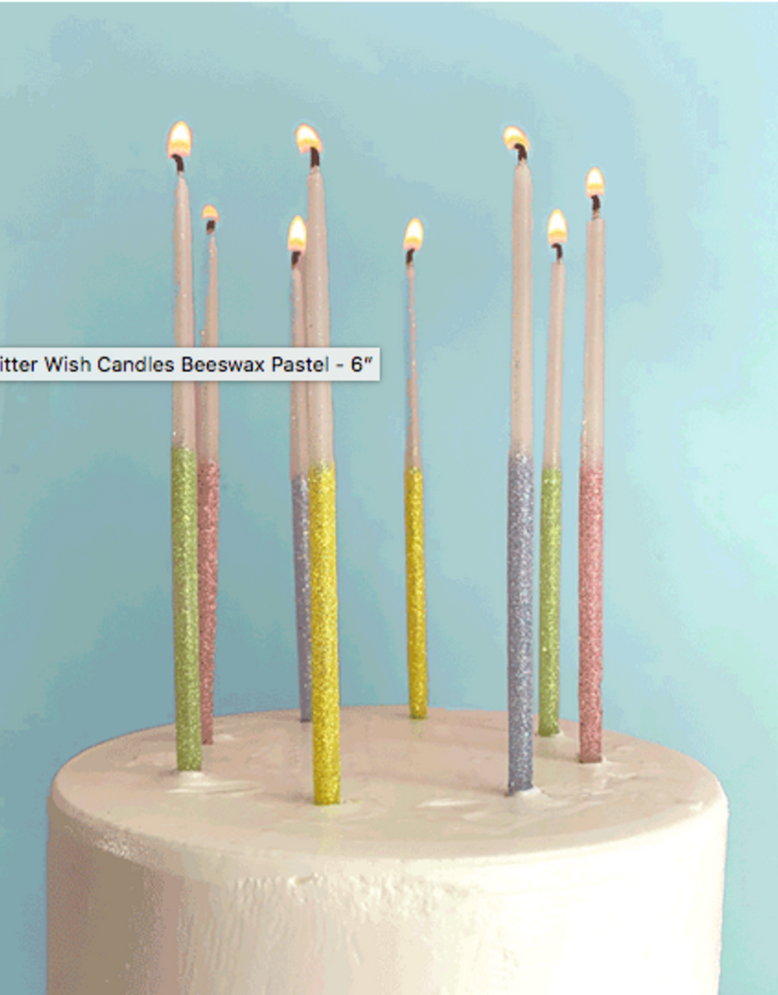 TOPS Malibu Glitter Wish Candles Beeswax Pastel