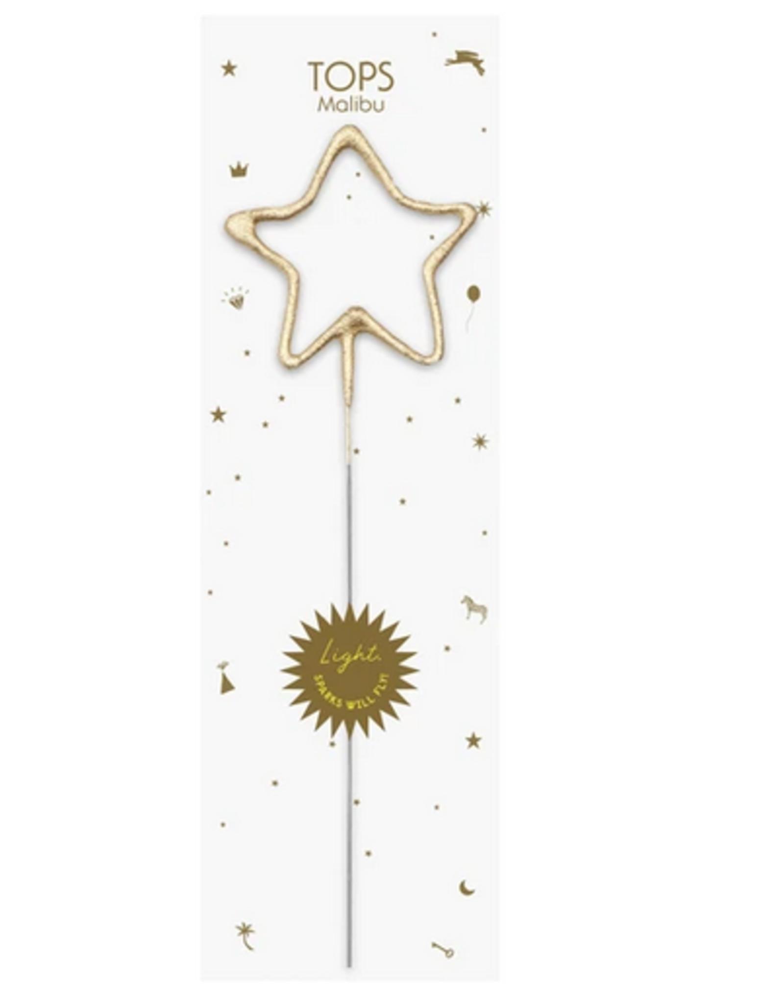 TOPS Malibu Big Golden Sparkler Wand Star