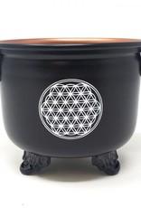 """New Age Imports, Inc. Flower of Life Cauldron 4"""""""