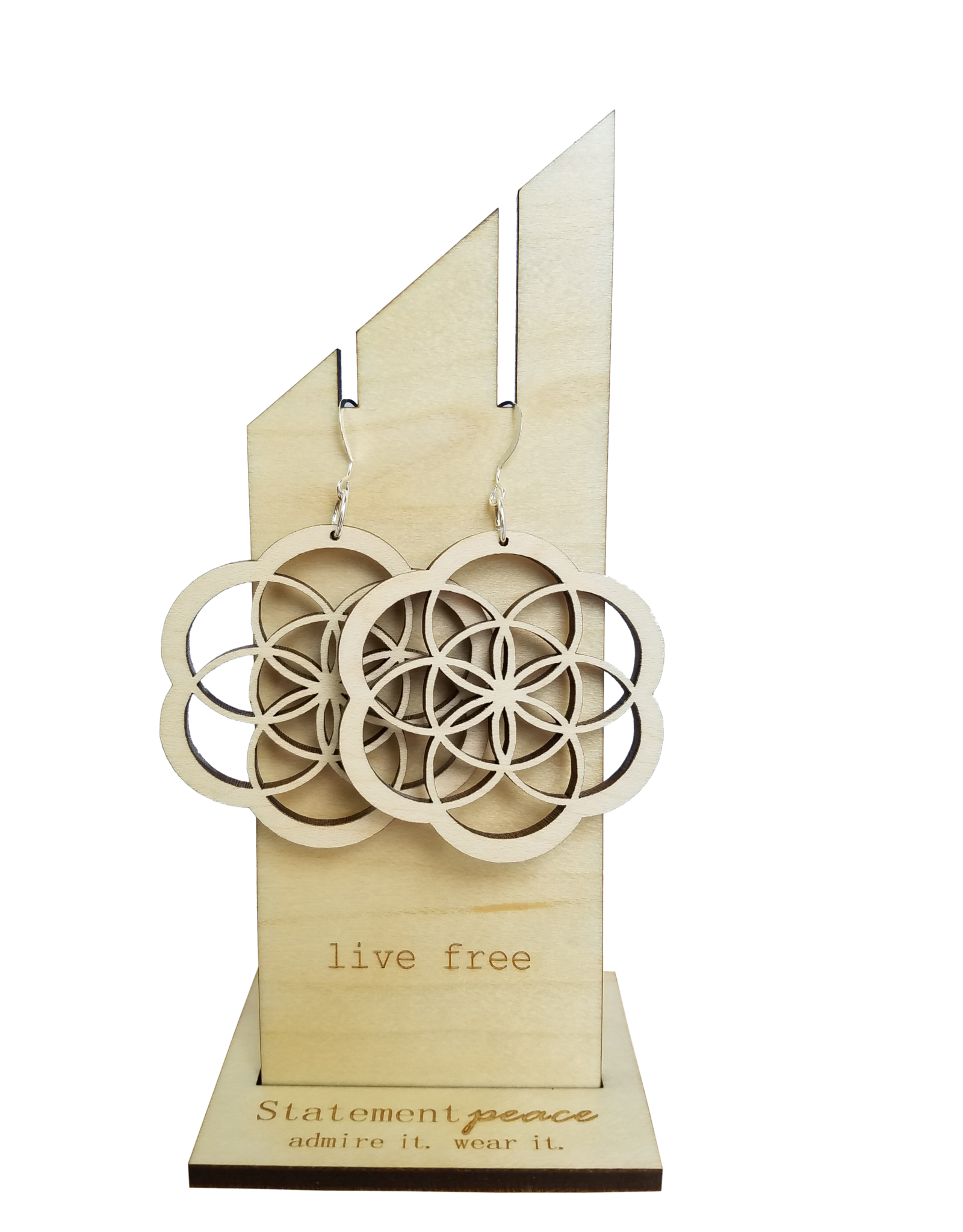 Statement Peace Seed of Life Hoops