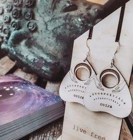 Statement Peace Ouija Vibes Earrings
