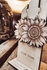 Statement Peace Sunflowers Earrings*