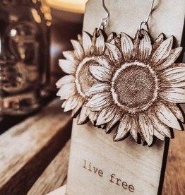 Statement Peace Sunflowers Earrings