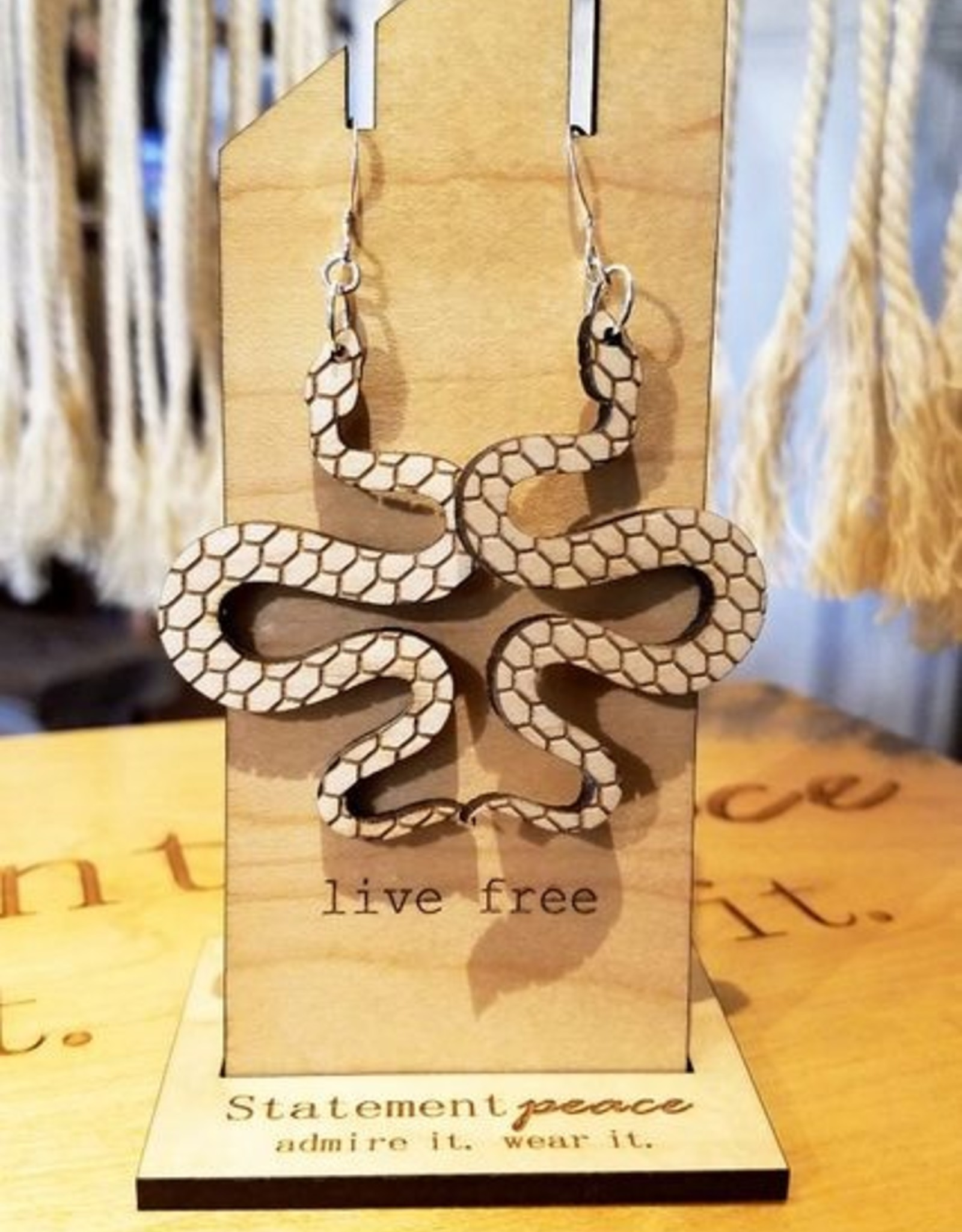 *Statement Peace Snakes Earrings