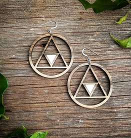 Statement Peace Geometric Hoops
