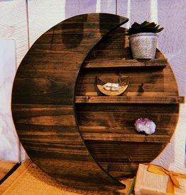 Lotus of the Moon Moon Shelf - Dark Walnut