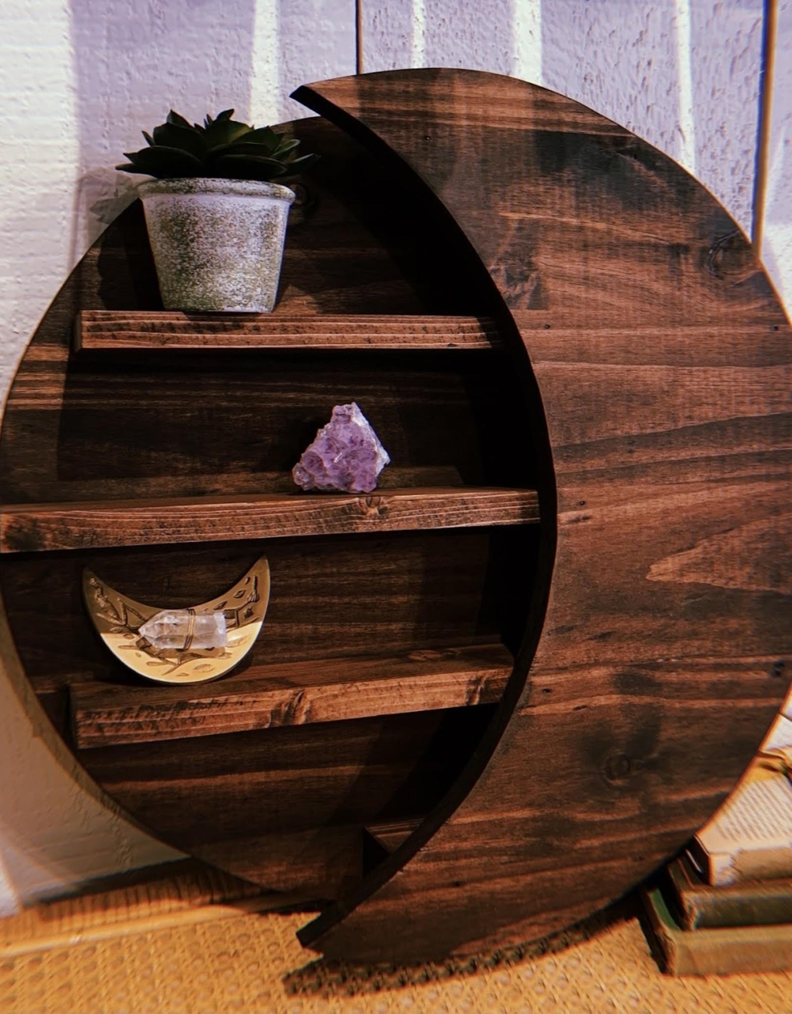 *Lotus of the Moon *Moon Shelf - Red Mahogany