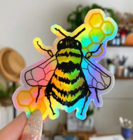 Jess Weymouth Bee Holographic Sticker