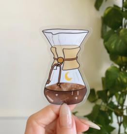 Jess Weymouth Chemex Coffee Transparent Sticker