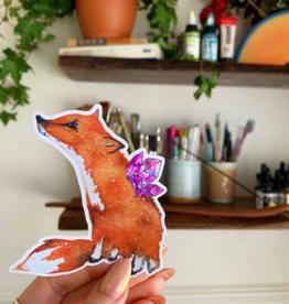 Jess Weymouth Fox Holographic Sticker