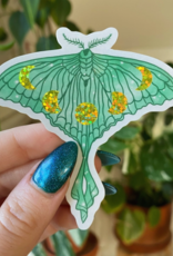 Jess Weymouth Glitter Luna Moth Sticker