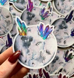 Jess Weymouth Gray Moon Holographic Sticker