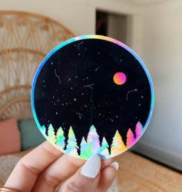 Jess Weymouth Holographic Night Sky Sticker