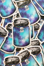 Jess Weymouth Mason Jar Vinyl Sticker