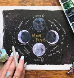 Jess Weymouth Moon Phase Chart Print