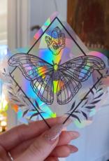 Jess Weymouth Moth Suncatcher Window Decal