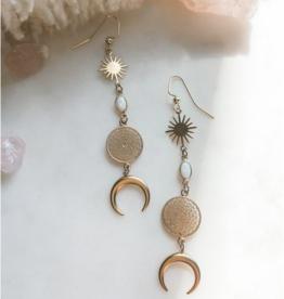 Pretty Eclectic Moondream - Opal Drop Earrings