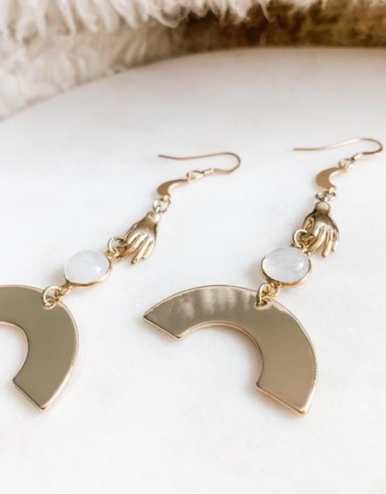 Pretty Eclectic *Oracle - Moonstone Earrings